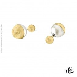 Diva Gioielli Eclisse Galaxy 17570-002 náušnice s perlou