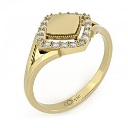 Prsten Kostka s ploškou