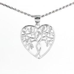 Přívěs strom života v srdci a řetízek