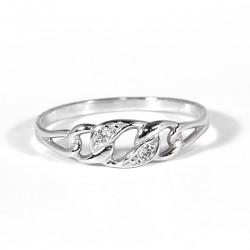 Prsten propletené očka