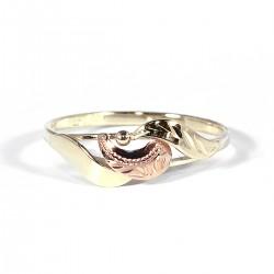 Prsten celozlatý
