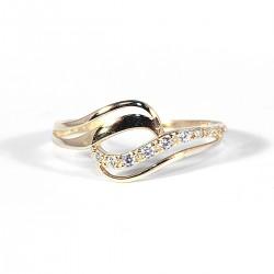 Prsten s řadou zirkonů