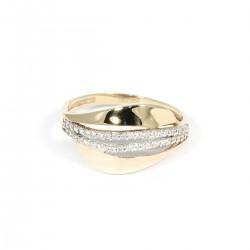 Prsten dvě řady zirkonů