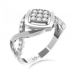 Prsten Kostka se zirkonovým středem