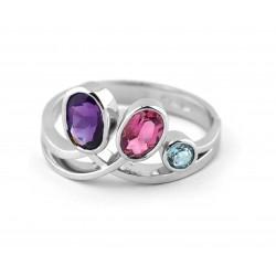 Prsten s přírodními kameny